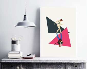George Michael, the glorious '80s. Illustration poster, Matte and Giclee Art Prints in A3 or A2 sizes. Wall Art, Home Decor, London Prints