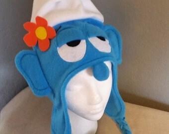 Smurf hat/ Vanity Smurf Hat/ Child and Adult Smurf Hat/ Fleece Smurf hat/ Smurf Winter Hat / Great Halloween Hat