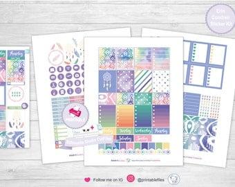 Boho summer planner kit planner stickers kit weekly kit erin condren planner stickers planner printable stickers planner sticker planner