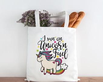 Unicorn Tote Bag, Unicorn Gift, Unicorn Fuel, Unicorn Bag, Unicorn Market Bag, Unicorn Shopping Bag, Cute Tote Bag, Funny Tote Bag 0366