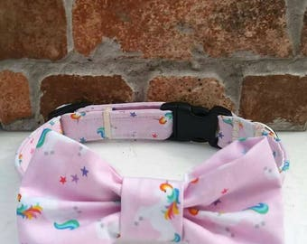 Dog Collar, Unicorn Dog Collar, Unicorn, Unicorns, Personalized Collar, Dog Collar, Bow Tie Collar, Dog Bow Tie, Wedding Dog, Girl Dog