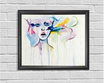 Woman Art, Oil Painting, Original Art, Home Wall Decor, Oil On Canvas, Housewarming Gift, Wall Decorations, Living Room Decor, Wall Art