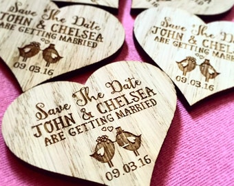 Magnet save the date, wooden save the date , Rustic save the date. Heart save the date, unique save the date