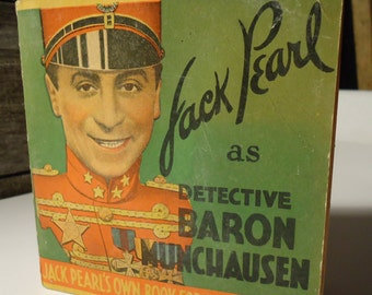 vintage book Jack Pearl's Own Books for Boys and Girls as Detective Baron Munchausen 1934 comedy
