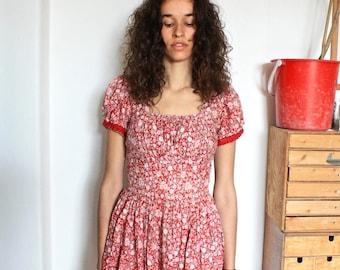 Red Floral Summer Dress