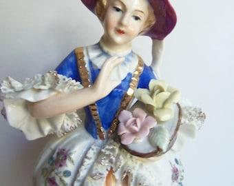 Porcelain Lady - Porcelain Figurine - Made in Japan