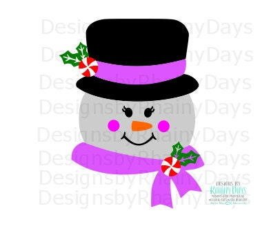 Buy 3 get 1 free! Snow girl cutting file, snowman girl SVG DXF png, Christmas, winter design