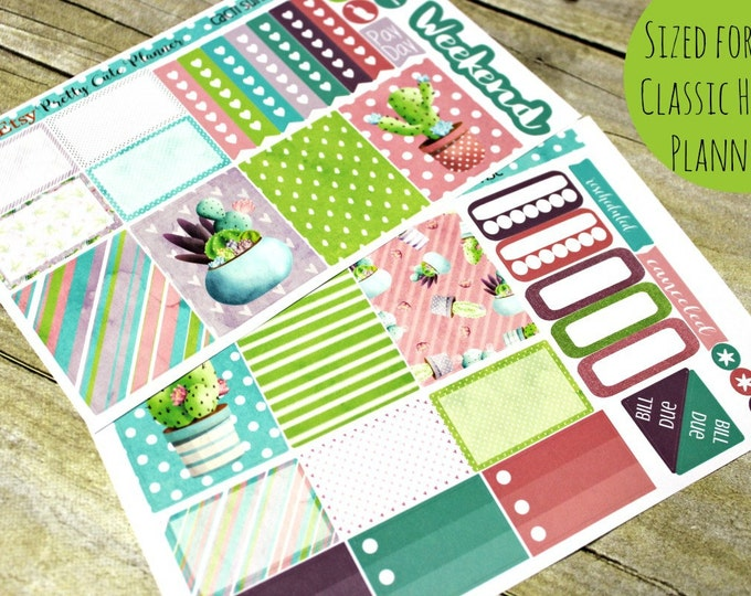 Happy Planner Stickers - Weekly Planner - Erin Condren Life Planner -  Functional stickers - Cacti Stickers - Spring Stickers - Cactus