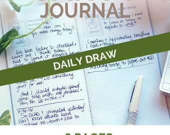 Daily Draw Tarot Midori Travelers Notebook Daily Planner insert - a dot grid journal diary for your witchcraft bujo and tarot notebook