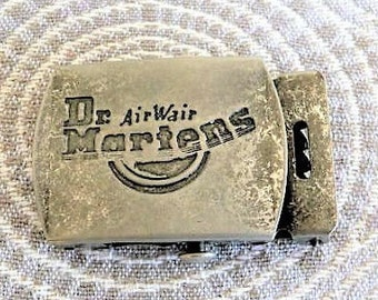 Dr Martens --  Old Beat Up Vintage Metal Belt Buckle ....  Unique & Collectible
