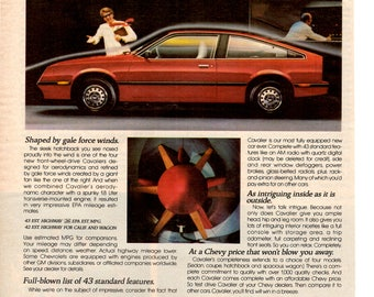 1982 Chevy Cavalier vintage magazine ad wall decor man cave gift (1704)