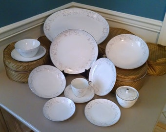 Mikasa Fine China Dinnerware, Complete Set, Service For 12, 95 Pieces, Beautiful Condition