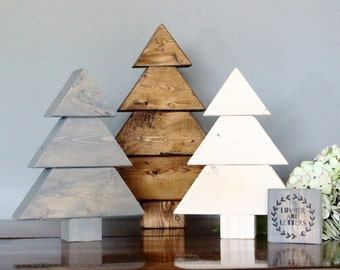 rustic trees wood christmas trees wooden christmas tree rustic christmas decor wood - Wooden Christmas Tree