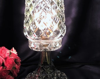 Reserved for Cara GORGEOUS VINTAGE Crystal Table Lamp c1940's