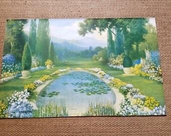 Nature's Treasure Print R Atkinson Fox Rare Vintage Art Deco 1926 Color Print Garden Scene Art Nouveau