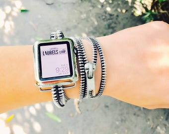 Apple Watch Band, Gift for Her, iWatch Band, Wearable Technology, Wearable Tech, Apple Watch Accessories, iWatch, Zipper Band