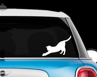 Stretching Cat - Car Decal, laptop decal, window decal- BF-D1057