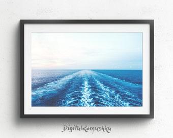 Ocean Print, Ocean Waves Print, Ocean Waves, Beach Decor, Ocean Wave, Ocean Wall Art, Ocean Photography, Ocean Art, Printable Art