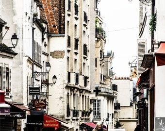 Paris Street Photography - Paris Streets - Montmarte - Wall Art - Paris Decor - Architecture - Fine Art Photography  - After the Rain - 0014