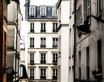Paris Apartments Photography - French Decor -  Wall Art Print - Paris Decor - Fine Art Photography  - Passage de Abbesses - 0016