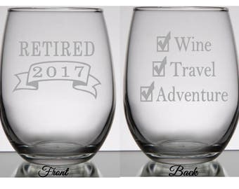 Retirement Gift for Women, Retirement, Retirement Gifts Women, Retirement Wine Glass, Retirement Gift for Man, Retirement Gift for Her