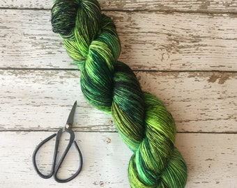 Ready to Ship - Hand Dyed Yarn - Into the Woods