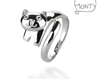 Monty - Sterling Silver Ring (Rhodium Plated)