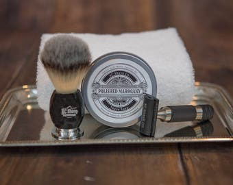 Maxwell Safety Razor Kit.  Valentine's Gift for him.  Grooming Kit. Men's Gift. Husband Gift. Boyfriend Gift. Unique And Personalized Gift F