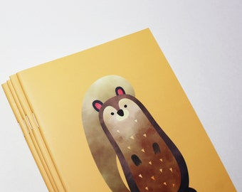 A5 Cute Squirrel Notebook. 20 lined pages. Matte lamination pleasant to the touch.