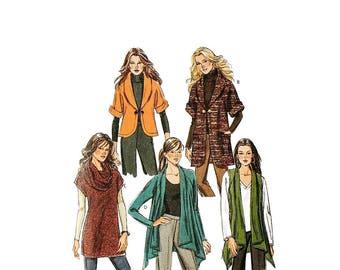 2000 Sewing Pattern - Butterick 5528 - Knit Cardigan Vest Tunic UNCUT