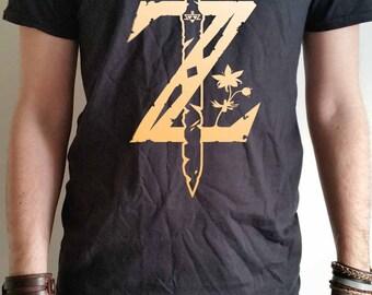 Legend of Zelda Breath of the Wild Sword logo Mens T-shirt