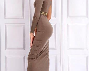 Kesha Cut Out One Shoulder Dress