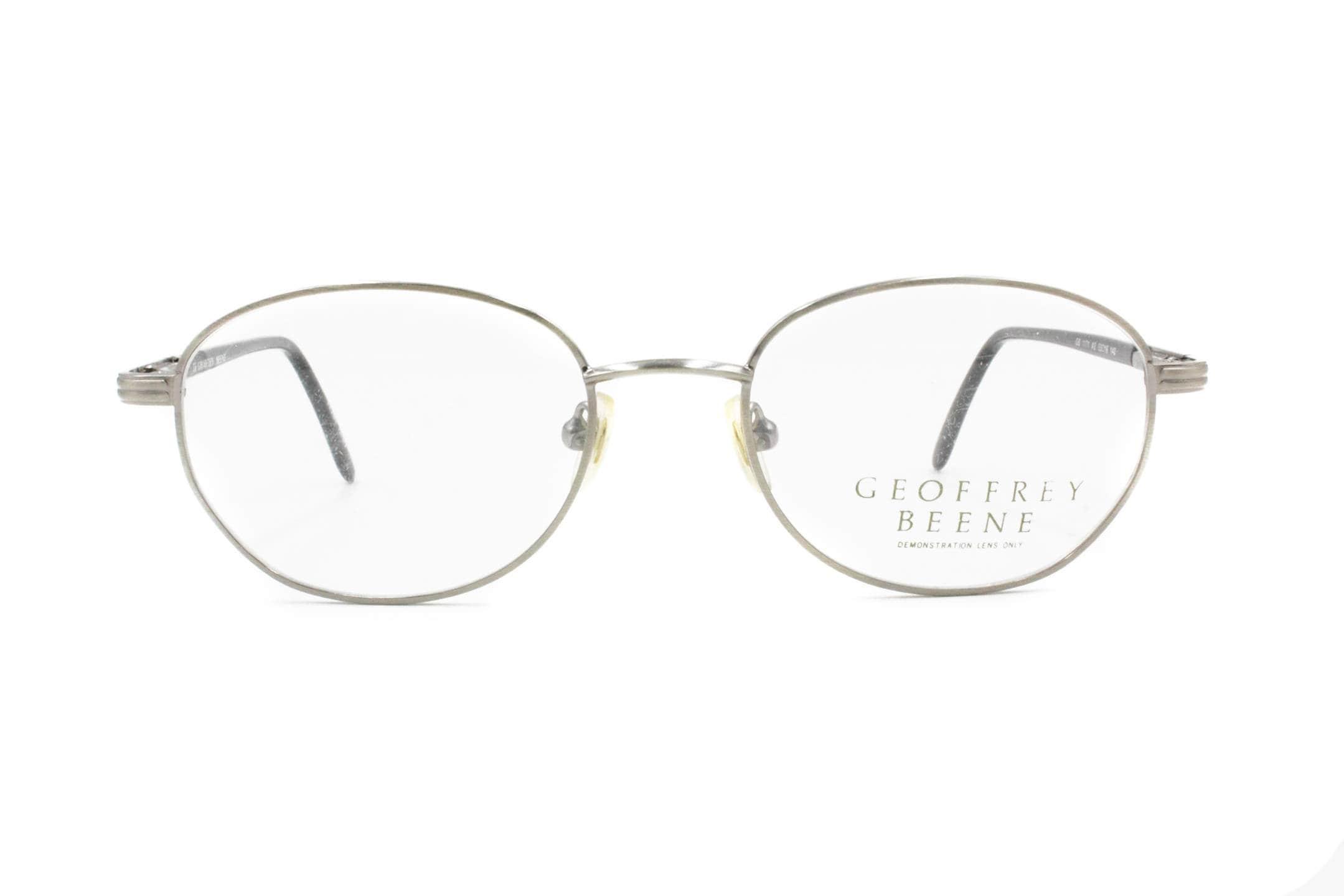 23f69f4cd45 Oval vintage eyeglasses GEOFFREY BEENE mod. GB 1171 silver   black classic  reading glasses medium
