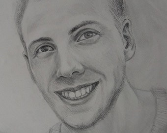 Personalized Gift Custom portrait Personalised portrait pencil drawing Wedding gift Gift for her Gift for him Christmas gift Valentines day