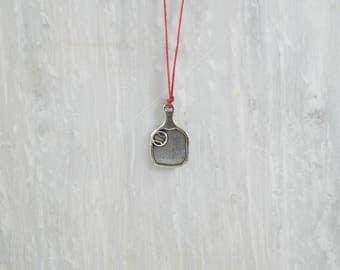 Tennis Necklace, Men's Necklace, Tennis Racket Necklace, Beach Necklace, Men's Pendant, Men's Jewelry, Men's Gift, Handmade in Greece.
