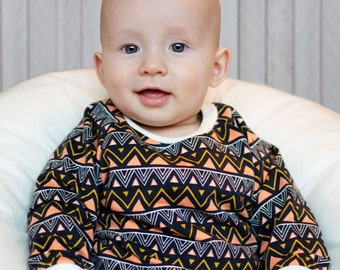Organic Jumper: Organic Sweater, Organic Sweatshirt, Baby Sweater, Organic Baby Clothes, Toddler Jumper, Triangle Jumper, Geometric Sweater