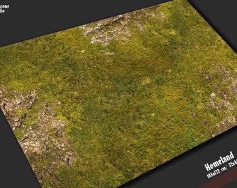 Neoprene rubber battle mat: Homeland - mouse pad grass terrain for fantasy miniature wargames -  Warhammer, Hordes, Malifaux, Age of Sigmar