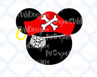Pirate Mickey 2 Mouse Head SVG,EPS,PNG,Studio