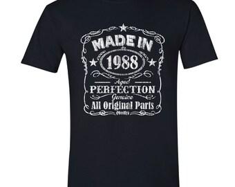 1988 birthday, 1988 shirt, 1988 T-Shirt, 1988, 1988 birthday shirt, Any Year Available