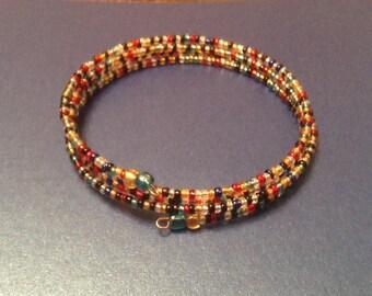 Multicoloured Memory Wire Bracelet