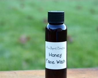 Honey Face Wash for Oily or Acne Prone Skin, Natural Facial Cleanser, 2oz