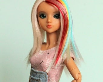 Wig for J-Doll (rainbow & blond)