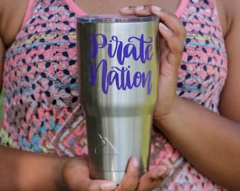 Pirate Nation Sticker Pirate Nation Decal ECU Decal East Carolina Sticker ECU Sticker East Carolina University Decal ECU Pirates