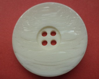 5 large buttons 31mm cream (4618) white coat buttons jacket buttons