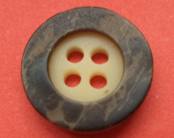10 small dark brown buttons 13mm (4335) Brown