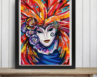 Carnival Mask Art Print - Hidden