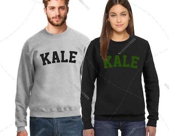 "Unisex - Premium Retail Fit ""Kale"" 2017 Crewneck, Sweater, Jumper, Fleece (S,M, L, XL+) Fashion - Oversized? Order big! Kale Sweater"