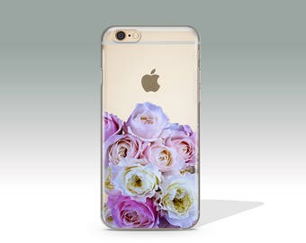 iPhone 7 Case Floral Clear iPhone 7 Plus Case Rose iPhone 7 Case Clear iPhone 6 Case iPhone 6s Case Silicone iPhone Case Christmas Gift /230