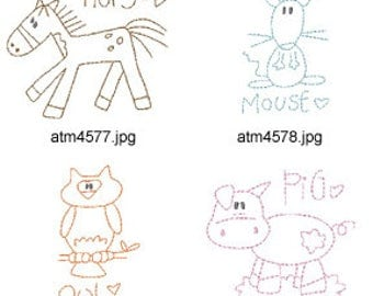 Back-to-Basics-Farm ( 7 Machine Embroidery Designs from ATW ) XYZ17D