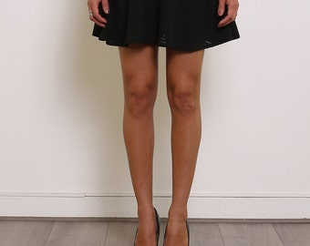 Black skirt, elastic waist, flared